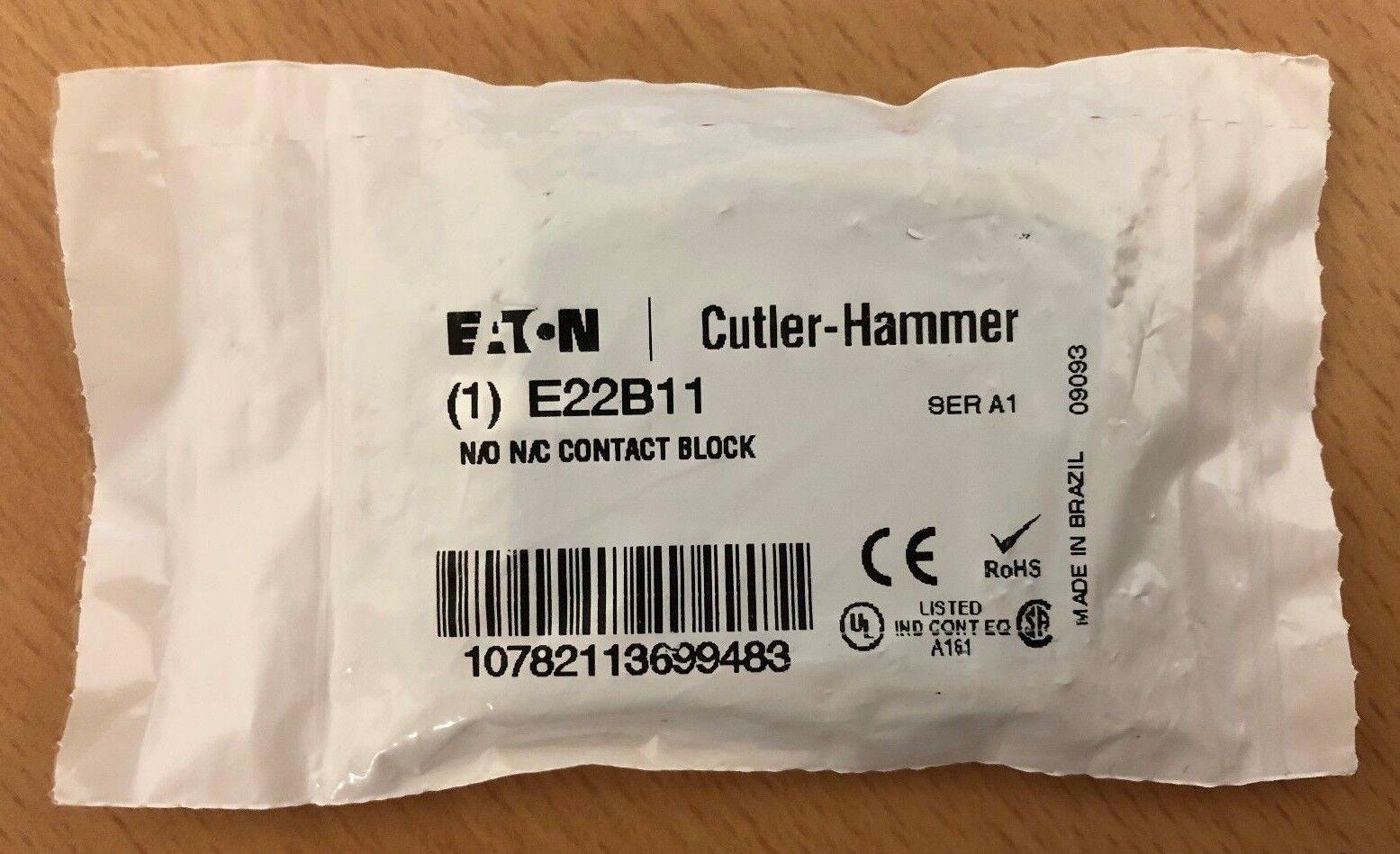 EATON Cutler Hammer E22B11 Ser A1 N//O N//C Contact Block Free Shipping Lot of 3