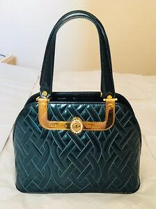 963f83f720c1 Image is loading NWOT-Authentic-Valentino-Orlandi-Designer-Green-Quilted -Leather-