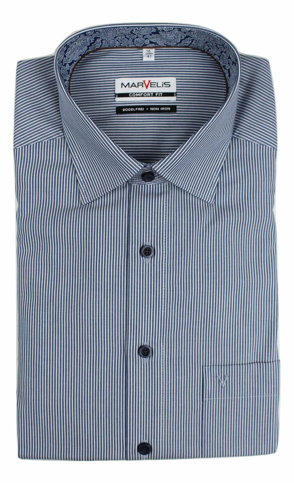 Denim Stripe (Paisley) Spread Collar
