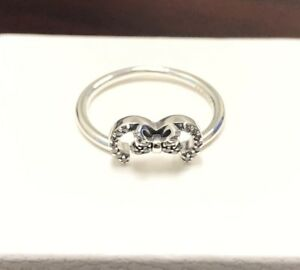 c1ee6f045 Image is loading Pandora-Disney-Minnie-Mouse-Silhouette-Ring-197509CZ -HINGED-