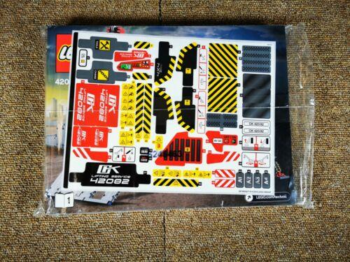 LEGO Technic Instruction Manual and Sticker Sheet for 42082 Rough Terrain Crane