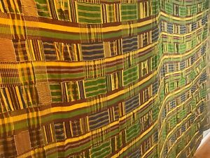 Vintage-large-African-Ashanti-hand-woven-cloth