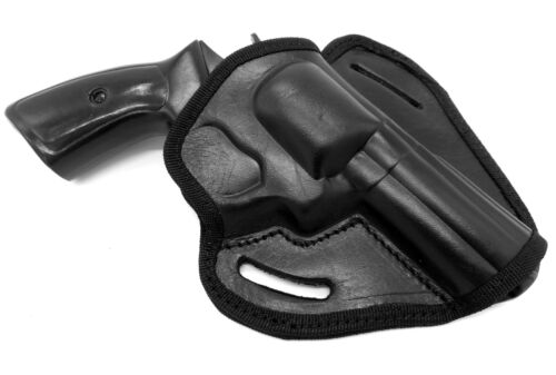 """CEBECI Black Leather OWB Open Top Belt Holster for CHARTER ARMS BULLDOG 44 4.2/"""""""