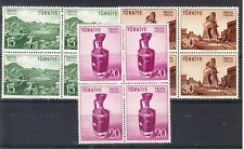 Turkey Scott 1222-1224 Mint NH blocks (Catalog Value $19.20)
