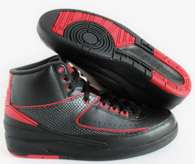 804630b4c30 Nike Air Jordan 2 Retro Alternate 87 Black Varsity Red 834274-001 Size 11 9