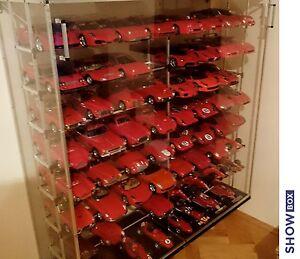 Details About 1 18 Display Cabinet Case Diecast Models Vitrine Dust Free Showbox64 Transparent