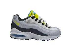 Dettagli su Adolescenti Nike Air Max 95 (GS) 905348017 Bianco Grigio Cibernetici Nero
