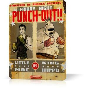METAL TIN SIGN NINTENDO PUNCH OUT CLASSIC VIDEO GAME 3