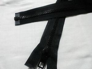 Nero Plastica Grosso Estremità Aperta Zip, Zip Nuovo di zecca di qualità, dimensioni a scelta  </span>