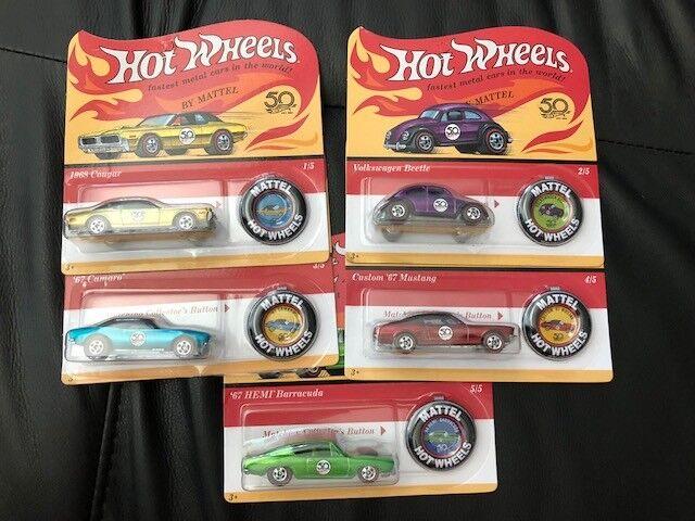 Hot wheels 50. jahrestag 5 auto rotline neue