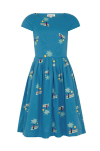 Emily and Fin Claudia Dress Blue Sunset Island