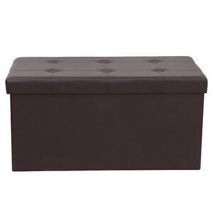 Surprising Details About 30 Folding Faux Leather Ottoman Pouffe Storage Box Footstool Multiple Colors Inzonedesignstudio Interior Chair Design Inzonedesignstudiocom