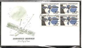 US-Scott-1557-Mariner-10-FDC-Block-Of-4-Artmaster-Cachet