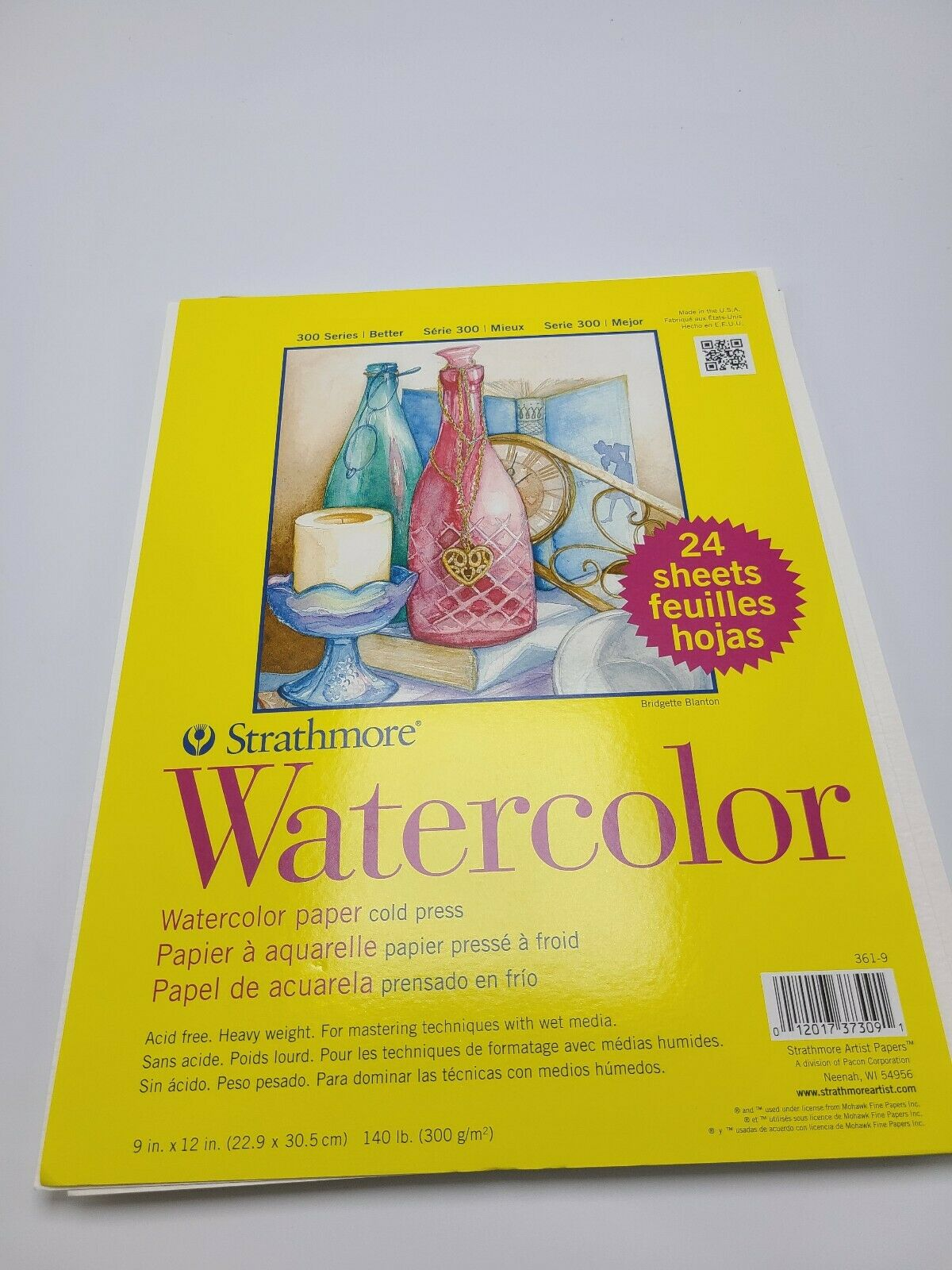Cold Press 9x12 2-Pack 300 Series Watercolor Strathmore 361-9 24 Sheets per Class Pack