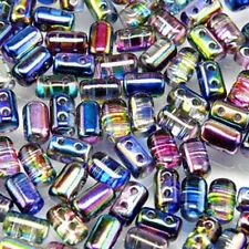 Magic Blue Pink Rulla Czech Glass 2-hole Seed Beads 3x5mm 20 Grams Tube
