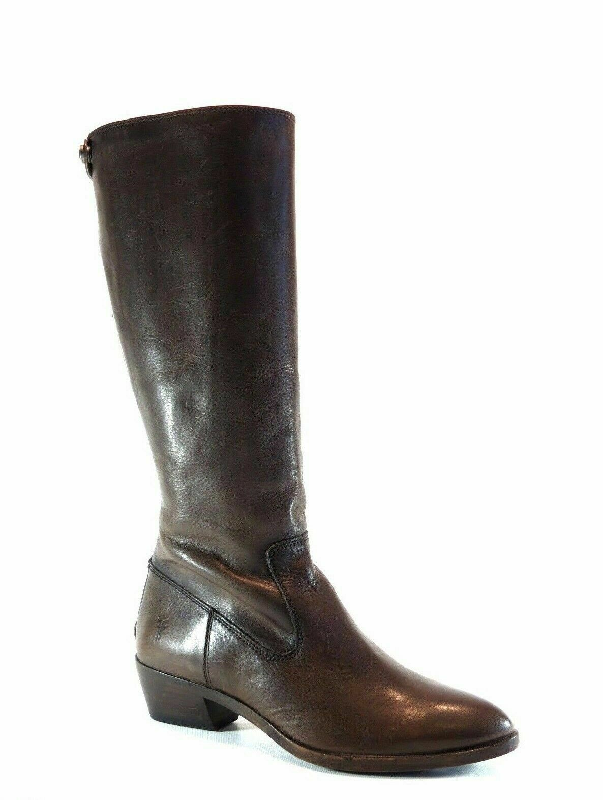 Frye Women's Women's Women's Ruby Zip Tall Boot Charcoal Brown Leather Knee High Riding Size 6 07da58