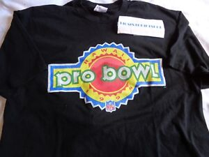 size 40 e46c2 b05e9 Details about 1994 NFL PRO BOWL HAWAII Shirt Football Adult Black Mens XL