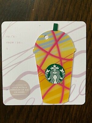"Canada Series Starbucks /""FRAPPUCCINO YELLOW 2018/"" Gift Card New No Value"