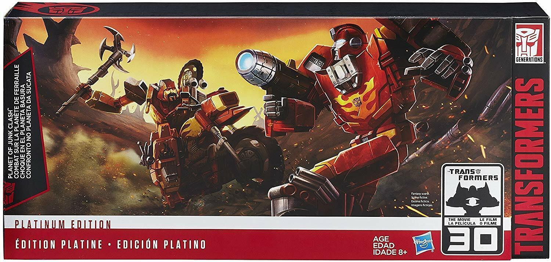 Transformers Kit Planet of Junk Clash Platinum Edition 3 Figuren Set Neu   Ovp