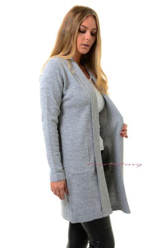 NUOVO Donna Aperto Sul Davanti Cardigan Casual manica lunga cappotto giacca Smart Maglione Top.