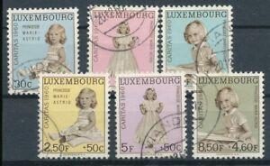 320456) Lussemburgo n. 631-636 timbrato Caritas