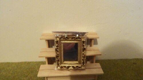 Doll House Furniture ornato d/'oro specchio 1.12th