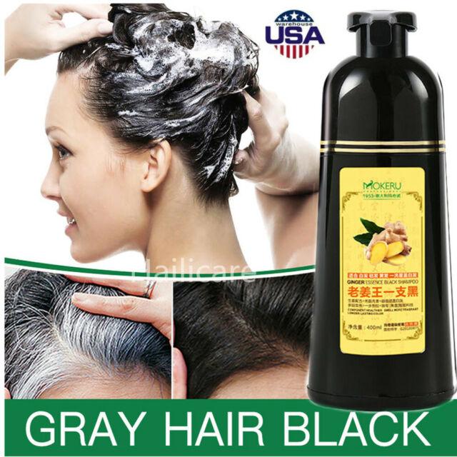 Mokeru Organic Hair Dye Only 5 Minutes Noni Plant Essence Black Hair Dye Shampoo