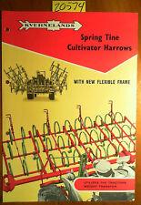 Kverneland Kvernelands Spring Tine Cultivator Harrows Brochure 70 23 56 268