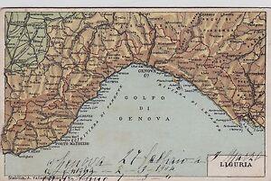 Regione Liguria Cartina Fisica.Genova Cartina Fisica Della Regione Ebay