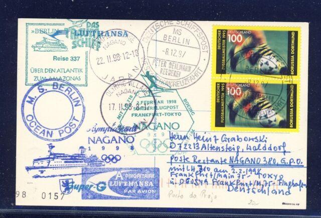 49530) LH Olympiade SF Frankfurt - Tokio/Nagano 2.2.98, MS Berlin Cabo Verde
