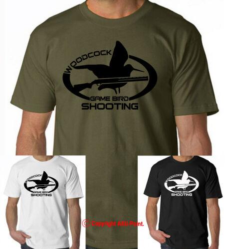 Woodcock Game Bird Shooting Hunting duck commander pheasant hunt t-shirt tee