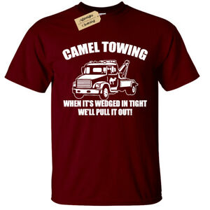 CAMEL-TOWING-T-Shirt-funny-Mens-Rude-Joke-Novelty-top-gift-present-humour