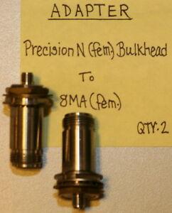 Adapter Female Bulkhead to SMA Female Precision Agilent // HP N