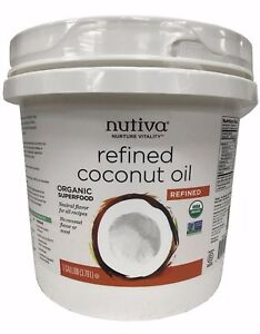 Details about Nutiva Refined Organic Coconut Oil with No Flavor or Scent 1  Gallon