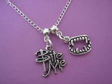 Vampire Necklace Fangs Bite Me Teeth Vampire Jewellery
