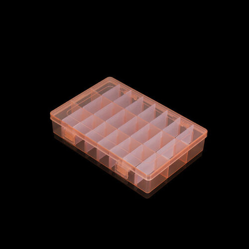 24 Grids Plastic Jewelry Beads Storage Boxs Case Display Organizer Container