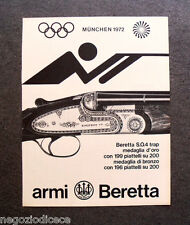 P333 - Advertising Pubblicità -1972- ARMI BERETTA , MUNCHEN 1972