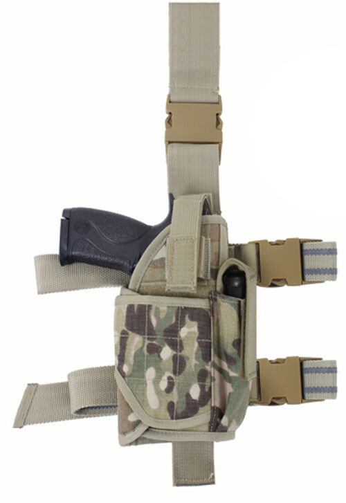 Holster leg adjustable drop tactical deluxe multicam fits most 10751 redhco