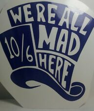 b1bb34e64dd Alice in Wonderland We re All Mad Here Era 9fifty Snapback Cap Hat ...
