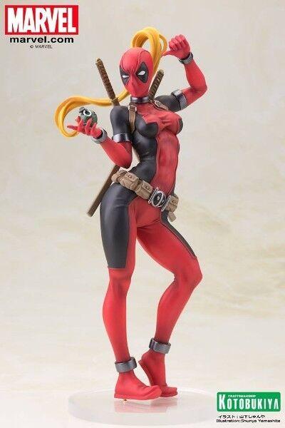 Kotobukiya Marvel Comics Lady Deadpool Bishoujo PVC PVC PVC Statue New 0a0fe7