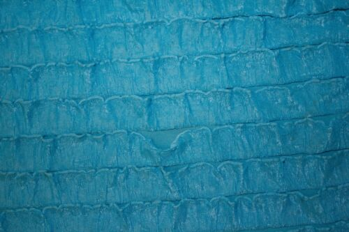 "Blue 1/"" Ruffle Knit 95/% Polyester 5/% Spandex Lycra Stretch Sewing Dress BTY"