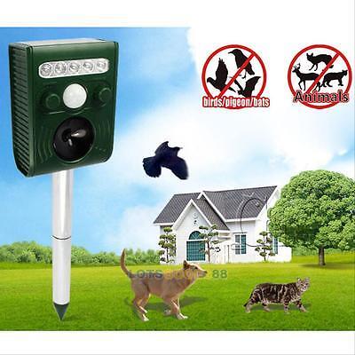 Ultrasonic Solar Powered Cat Repeller Animal Chaser Deterrent Repellent For Dog