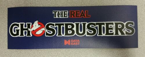 The Real Ghostbusters marquee sticker. 3.25x10. (Buy 3 stickers, GET ONE FREE!)