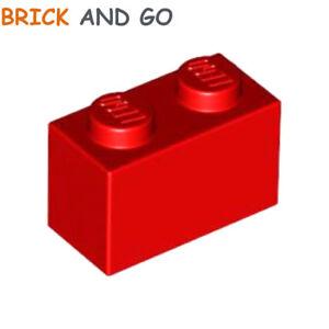 10x Brique Brick 1x2 2x1 rouge//red 3004 NEUF Lego