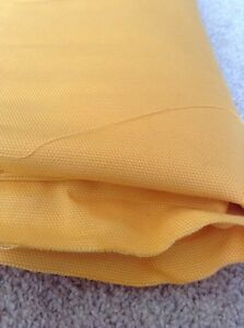 Heavy-Bright-Yellow-Cotton-Fabric-150cm-Wide-By-330cm-Plain-Furnishing-Backing