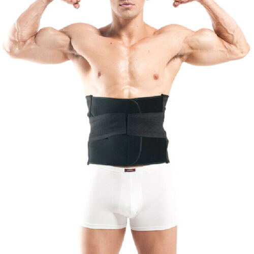 GOGO Mens Black Compression Slimming Trimmer Waist Training Belt fit 50-57 Waist
