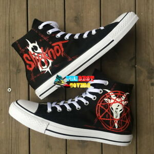 SLIPKNOT heavy metal band hand painted shoes zapatos pintados scarpe ... d86696305