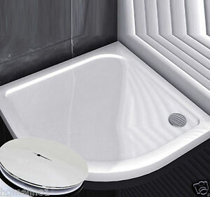 acryl duschtasse virtelkreis 90x90 duschwanne flach wanne. Black Bedroom Furniture Sets. Home Design Ideas