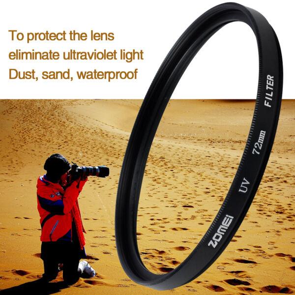 Alerte Zomei 55 Mm Uv Ultra-violet Filtre Protecteur Lentille Pour Nikon Canon Sony Caméra Effet éVident