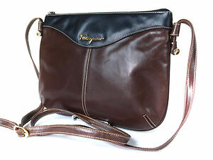 Image is loading Auth-SALVATORE-FERRAGAMO-Brown-Leather-Cross-body-Shoulder- 1be79fd3ac4ad